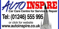 Auto Inspire - Car Care Centre for Service and Repair. Call 01246 555995 or click for website.