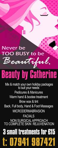Beauty By Catherine. Chesterfield Beauty Therapist. Call 07941 987421
