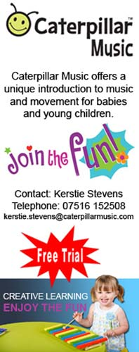 Music, Movement And Fun for pre-schoolers As Caterpillar Music Comes To Chesterfield. Call 07516 152508 for details.