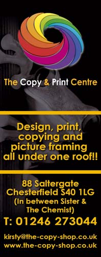 The Copy Shop Chesterfield, for print, copying and more