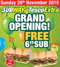 Subway at Chesterfield's Tesco Extra - The Official Grand Opening
