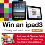 Win an iPad3 In Autoworld Chesterfield's Free-To-Enter Comp