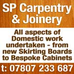 S P Carpentry & Joinery Services. Call Steve on 07807 233 687