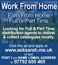 Work from home - full or part time. Apply now by clicking this ad.