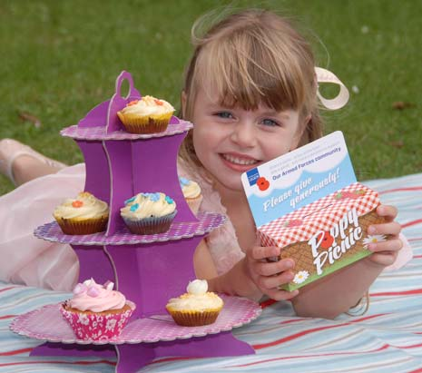 Six-year-old Poppy Crosby from Derbyshire hosted her own 'Poppy Picnic' on Sunday 10th August, to help raise funds for The Royal British Legion's vital work with the Armed Forces community.