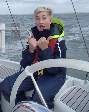 15 year old Andrew Davies from Chesterfield has taken part in an inspirational sailing trip with the Ellen MacArthur Cancer Trust, along with 29 other young people between the age of 8 -18 in recovery from cancer.