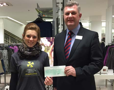 Marks & Spencer Chesterfield have raised an amazing £1,023.79 after spending just four weeks fundraising over Christmas.