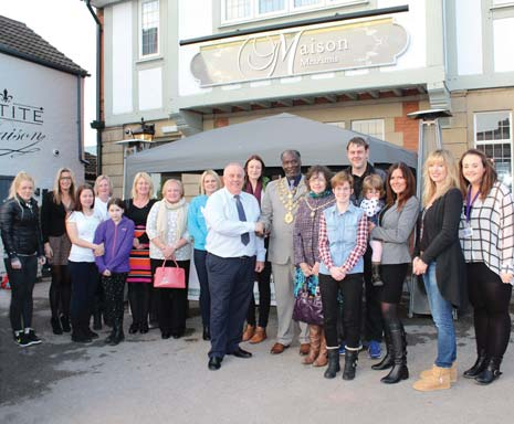 Chesterfield Samaritans, Fairplay, Ashgate Hospice, Pathways, Helen's Trust, Sick Children's Trust, Chesterfield Sands and The Mayor's Appeal gathered at Maison Mes Amis on Chatsworth Road on Friday afternoon where they were presented with cheques by Marathon CEO Mike Hyman. Further presentations will be staged for other charities later.