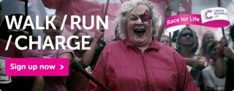 Fundraisers from Cancer Research UK will be putting on their 'war paint' and calling on Chesterfield's women to join the fight against cancer by signing up for Cancer Research UK's Race for Life in Chesterfield.
