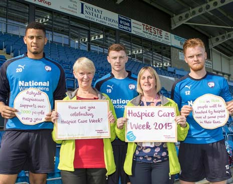 Chesterfield FC have announced that AshgateHospicecare will be the club's official charity partner during the 2015/16 season.