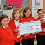 Schoolchildren from Heath Primary School Receive their donation cheque from Tesco