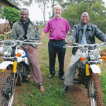 Bishop's Thanks For Kenyan Trail Bikes