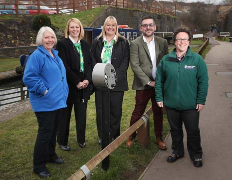 The Chesterfield Canal Trust has unveiled the latest attraction at Hollingwood Hub in the shape of an 'audio post'.