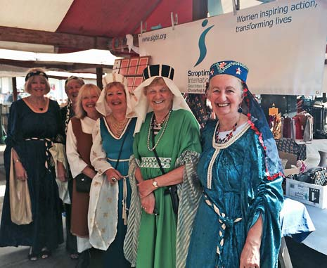 The best dressed stall and stallholder title was won by The Soroptimists, who had all dressed in medieval finery to raise their profile.