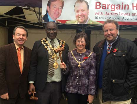 The annual Bargain Hunt was also held, with this year's guest auctioneers, James Lewis and Eric Knowles joining teams headed by the Mayor and Mayoress