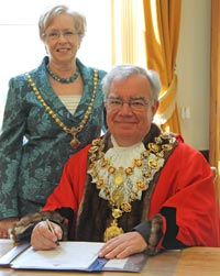 The Lord Mayor and Lady Mayoress of Chesterfield
