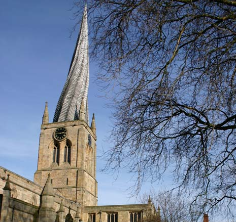 Chesterfield is known for its Crooked Spire and it's a great thing. People from all over the country come to see it.