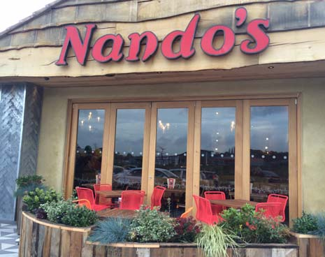 Chesterfield residents and visitors are in for a tasty treat as Nando's, home of legendary Portuguese flame-grilled PERi-PERi chicken, opened to the public today