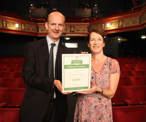 Chesterfield's Pomegranate Theatre has won a prestigious award from the online review site, TripAdvisor.