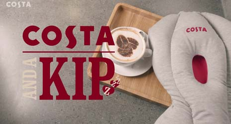 The nation's favourite coffee shop, Costa, is trialing a new service from April that lets customers nod off and have a power nap when they hit an afternoon slump - introducing Costa-And-A-Kip!