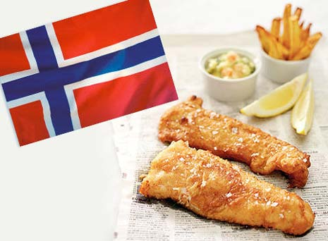 North Sea Fish Bar will be serving up 99p portions of delicious Norwegian cod and chips TOMORROW - Saturday 17th May - to celebrate Norway Day in the UK.