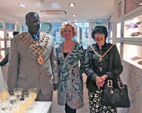 the Mayor and Mayoress of Chesterfield were in attendance at the official opening of Chesterfield's newest 'high end' business, which has been hailed a hit by customers and seen brisk trade since it opened its doors two months ago.