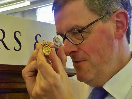 A rare First World War medal awarded to a soldier by his home town deep in the Australian outback, has sold for five times the expected price at auction after it was unearthed at a valuation session in Chesterfield.