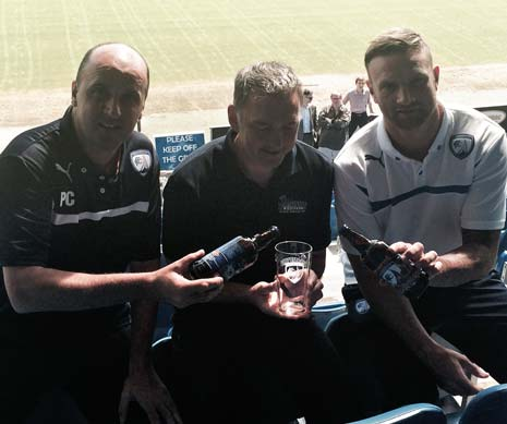 The event, organised by the club, celebrated the release of The Champions Ale created by Brampton Brewery as a result of the success of the club last season - with Manager Paul Cook and Ian Evatt in attendance.