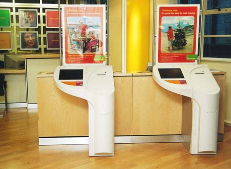 Old-fashioned 'signing-on', job cards in windows, and Full Monty-style dole queues have been consigned to the past as Chesterfield Jobcentre is among those to undergo a digital revolution