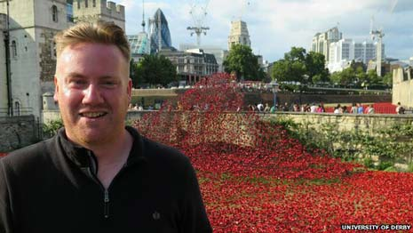 Paul Cummins, ceramicist and creator of the Blood Swept Lands and Seas of Red installations at the Tower of London in 2014, has been awarded the MBE for services to art and for commemoration of World War One.