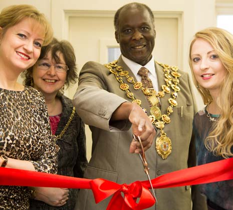 The Mayor and Mayoress of Chesterfield were in attendance on Monday morning to open a new phase in the life of a local jewellery shop.