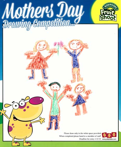 Mother's Day Drawing Competitionhas been extremely popular with children and, with the winning design now featuring in the Mother's Day advertising campaign, there has been no shortage of creativity!