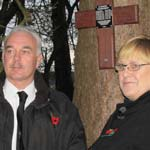 Anthony and Catherine Heeley at the memorial site