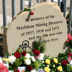 40th Anniversary Memorial For Markham Pit Disaster