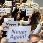 Students Pledge 'Never Again' For Holocaust Memorial Day