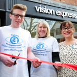 Eye Cancer Teen Cuts Ribbon To Open New Vision Express