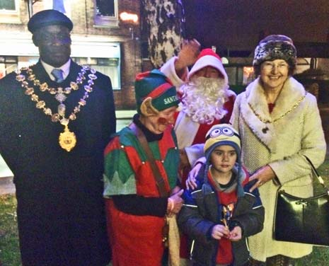 The Mayor and Mayoress of Chesterfield switched on the Christmas lights of New Whittington this weekend - as the village launched it's first Christmas Market.