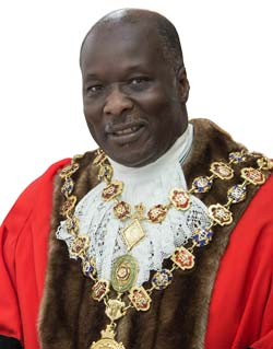 In a sometimes emotional evening, in front of family and friends last Wednesday, 14th May, Cllr Alexis Diouf became the 374th Mayor of Chesterfield.