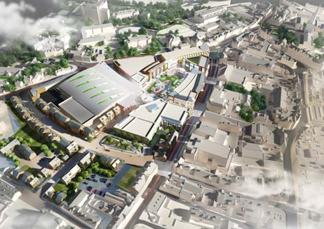 The Northern Gateway scheme aims to create a high quality shopping, restaurant and leisure development on land surrounding the 'Donut' roundabout site.