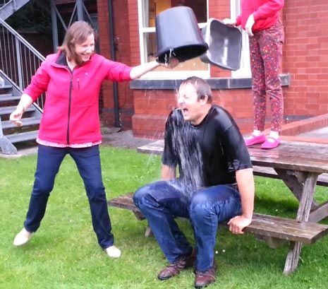 It's Chilly in Chesterfield! Toby Perkins MP takes the Ice-Bucket Challenge to Raise Money for the Motor Neurone Disease Association.