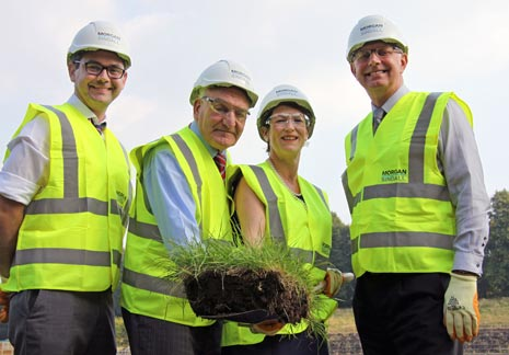 A sod cutting ceremony has been held to mark the start of work on Chesterfield Borough Council's £9.3 million project to replace the Queen's Park Sports Centre.