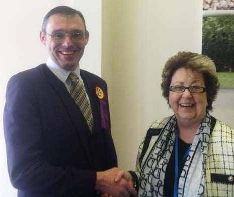 Last years Mayor of Chesterfield has joined UKIP to become their first councillor on Chesterfield Borough Council.