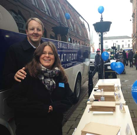 Chesterfield MP Toby Perkins Joins 'Small Business Saturday' Bus Tour