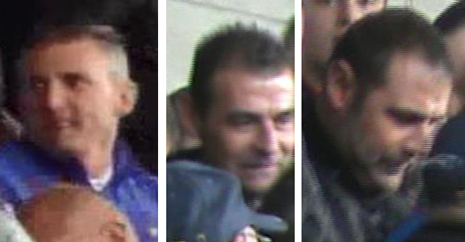 Police have released photos of three men they want to trace in connection with incidents of disorder at a football match in Chesterfield.