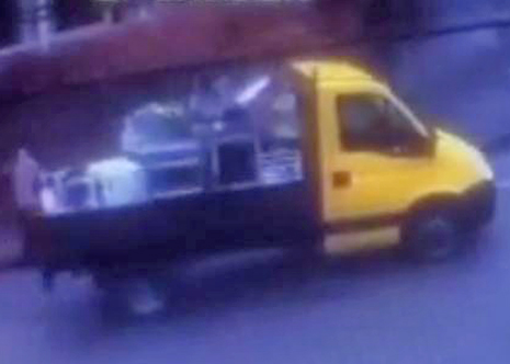 A flatbed van with a yellow cab was seen in the area and police want to trace its owner.