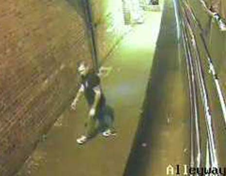 The offender is described as white, aged in his twenties and wore a black t-shirt, blue jeans and white trainers.