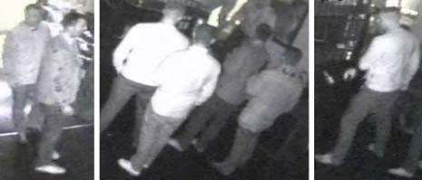 Police investigating an assault where the victim suffered a fractured jaw have released CCTV stills of men they want to speak to.