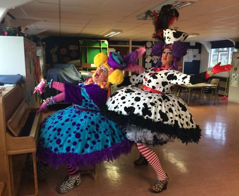 The Sisters can be seen throughout the town this week ahead of rehearsals,