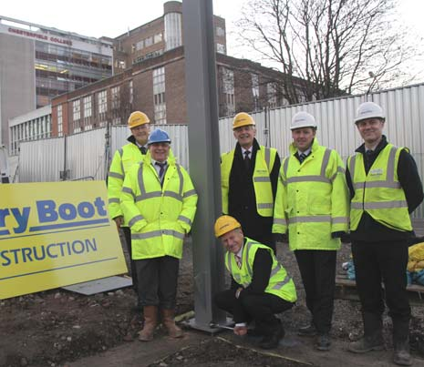 A new Chesterfield College building set to house studies in building services such as joinery and painting and decorating has begun construction next to the A61, opposite the College's existing campus on Infirmary Road.