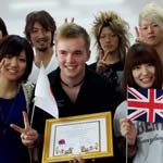 Michael Wild with eight Takasaki Learners who will be visiting Chesterfield College during September this year